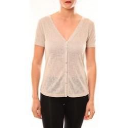 Abbigliamento Donna T-shirt maniche corte Meisïe Top 50-608SP14 Beige Beige