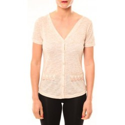 Abbigliamento Donna T-shirt maniche corte Meisïe Top 50-608SP15 Beige Beige