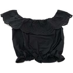Abbigliamento Bambina Top / Blusa Patrizia Pepe TOP RAGAZZA Nero