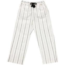 Abbigliamento Bambina Pantaloni Patrizia Pepe PANTALONE RAGAZZA Bianco