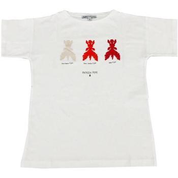 Abbigliamento Bambina T-shirt maniche corte Patrizia Pepe RAGAZZA Bianco
