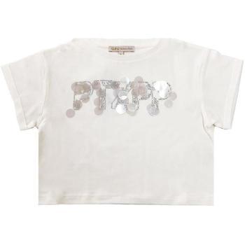 Abbigliamento Bambina T-shirt maniche corte Patrizia Pepe RAGAZZA PANNA Bianco