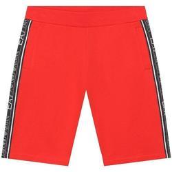 Abbigliamento Bambino Pantaloni Emporio Armani EA7 BERMUDA JUNIOR 3HBS54-BJ05Z Rosso