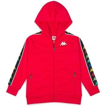 Abbigliamento Bambina Felpe Kappa FELPA ZIP CON CAPPUCCIO BIANCO Rosso