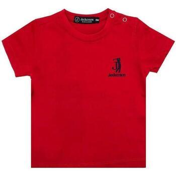 Abbigliamento Bambina T-shirt maniche corte Jeckerson JN1854 Rosso