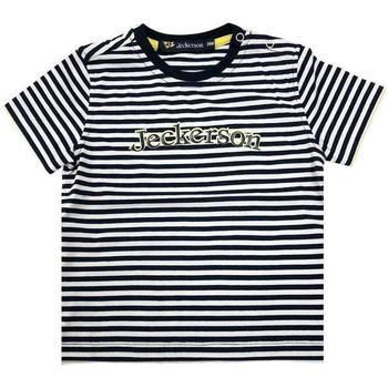Abbigliamento Bambina T-shirt maniche corte Jeckerson BLU Bianco