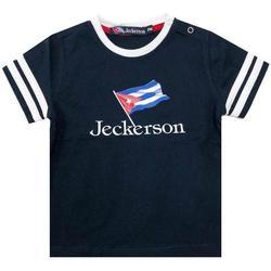 Abbigliamento Bambina T-shirt maniche corte Jeckerson JN1829 Blu