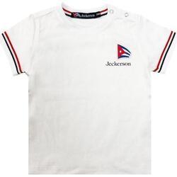 Abbigliamento Bambina T-shirt maniche corte Jeckerson JN1831 Bianco