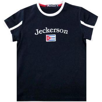 Abbigliamento Bambino T-shirt maniche corte Jeckerson JB1628 Blu