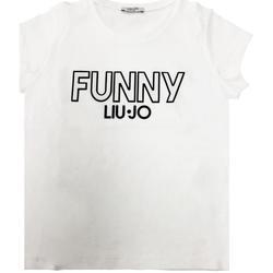 Abbigliamento Bambino T-shirt maniche corte Liu Jo RAGAZZA NERO Bianco