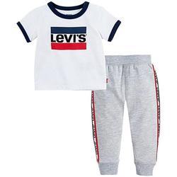 Abbigliamento Bambina Tuta Levi's COMPLETO GRIGIO Bianco