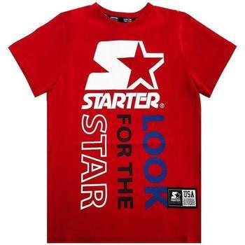 Abbigliamento Bambino T-shirt maniche corte Starter RAGAZZO Rosso