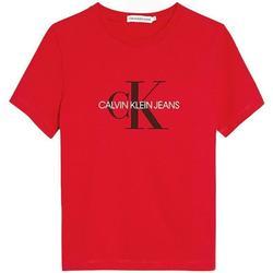 Abbigliamento Bambino T-shirt maniche corte Calvin Klein Jeans IU0IU00068 Rosso