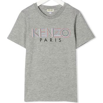 Abbigliamento Bambino T-shirt maniche corte Kenzo KQ10628 Grigio