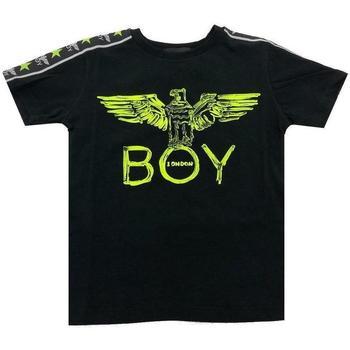 Abbigliamento Bambino T-shirt maniche corte Boy London RAGZZO GIALLO FLUO Nero