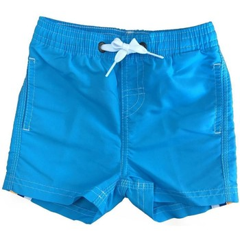 Abbigliamento Bambina Costume / Bermuda da spiaggia Sundek COSTUME ARANCIO FLUO Azzurro