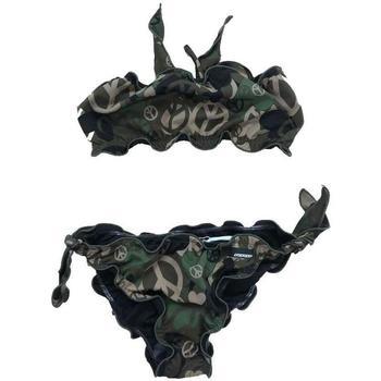 Abbigliamento Bambina Costume a due pezzi Rrd - Roberto Ricci Designs COSTUME BIKINI VERDE CAMOUFLAGE Verde Militare