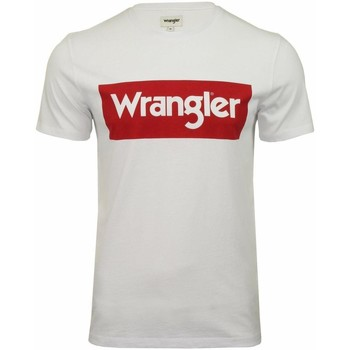 Abbigliamento Uomo T-shirt maniche corte Wrangler ROSSO Bianco