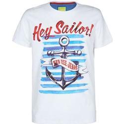 Abbigliamento Bambino T-shirt maniche corte Essenza T700/TLJT Bianco