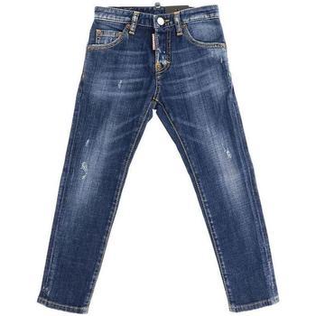 Abbigliamento Bambino Jeans dritti Dsquared JEANS DENIM DQ01PW-D00TG Blu