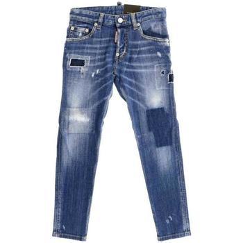 Abbigliamento Bambino Jeans dritti Dsquared JEANS DENIM DQ021D-D00U9 Blu