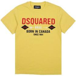 Abbigliamento Bambino T-shirt maniche corte Dsquared DQ04HF-D002M Giallo