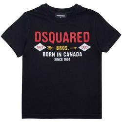 Abbigliamento Bambino T-shirt maniche corte Dsquared DQ04HF-D002M Nero