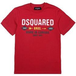 Abbigliamento Bambino T-shirt maniche corte Dsquared DQ04HF-D002M Rosso