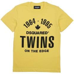 Abbigliamento Bambino T-shirt maniche corte Dsquared NERO DQ04HN-D002M Giallo