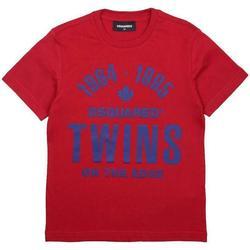 Abbigliamento Bambino T-shirt maniche corte Dsquared BLU DQ04HN-D002M Rosso