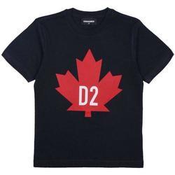 Abbigliamento Bambino T-shirt maniche corte Dsquared BLU ROSSO DQ04HQ-D002M Blu scuro