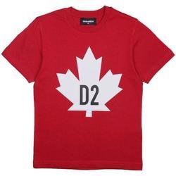 Abbigliamento Bambino T-shirt maniche corte Dsquared BIANCO DQ04HQ-D002M Rosso
