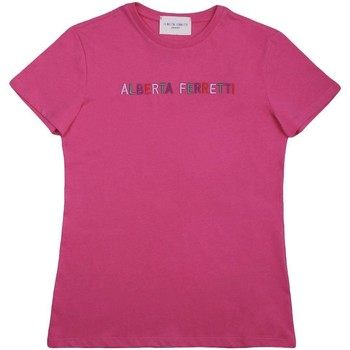 Abbigliamento Bambina T-shirt maniche corte Alberta Ferretti FUCSIA Fuxia
