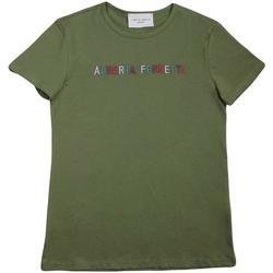 Abbigliamento Bambina T-shirt maniche corte Alberta Ferretti 019299 Verde Militare