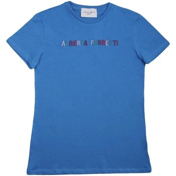 Abbigliamento Bambina T-shirt maniche corte Alberta Ferretti 019299 Bluette