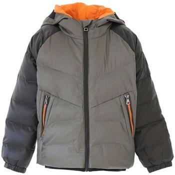 Abbigliamento Bambino Piumini Emporio Armani EA7 GIUBBOTTO NERO ARANCIO 6GBB02-BN22Z Grigio
