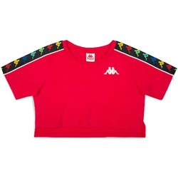 Abbigliamento Bambina T-shirt maniche corte Kappa BIANCO Rosso