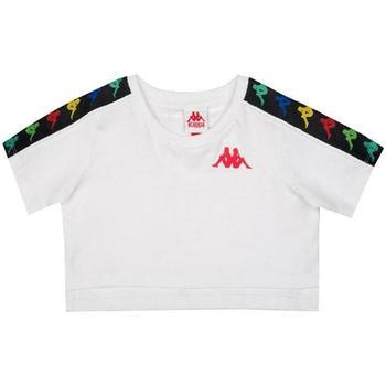 Abbigliamento Bambina T-shirt maniche corte Kappa ROSSO Bianco