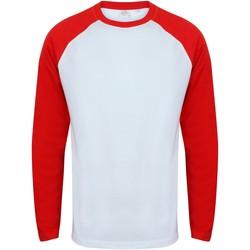 Abbigliamento Uomo T-shirts a maniche lunghe Skinni Fit SF271 Bianco/Rosso