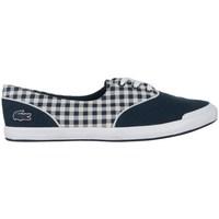 Scarpe Donna Sneakers basse Lacoste Lancelle Lace 3 Eye 216 1 Spw Bianco, Blu marino