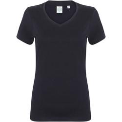 Abbigliamento Donna T-shirt maniche corte Skinni Fit SK122 Blu navy