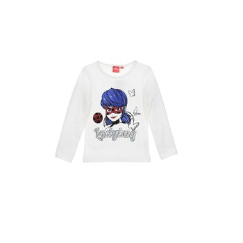 Abbigliamento Bambina T-shirts a maniche lunghe TEAM HEROES  MIRACULOUS LADYBUG Bianco