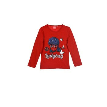 Abbigliamento Bambina T-shirts a maniche lunghe TEAM HEROES  MIRACULOUS LADYBUG Rosso