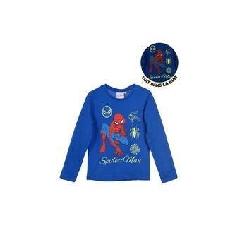 Abbigliamento Bambino T-shirts a maniche lunghe TEAM HEROES SPIDERMAN Blu