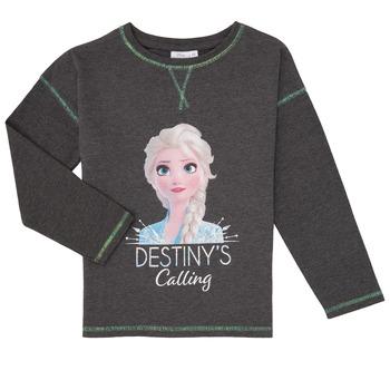 Abbigliamento Bambina T-shirts a maniche lunghe TEAM HEROES FROZEN Grigio