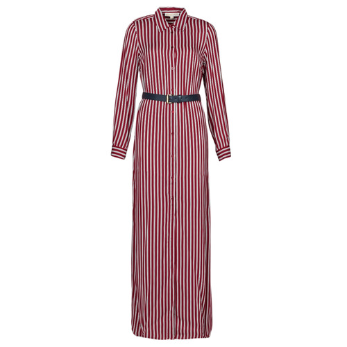 Abbigliamento Donna Abiti lunghi MICHAEL Michael Kors WARM PLAYFL SHIRT DR Bordeaux / Bianco / Marine