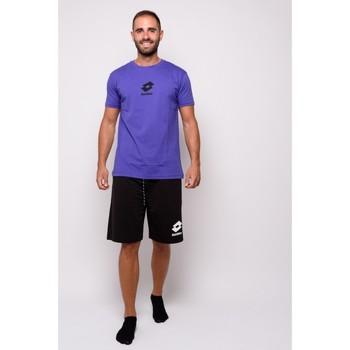 Abbigliamento Uomo T-shirt maniche corte Lotto T-shirt  Mezza Manica Jersey (ltu012-viola) Viola