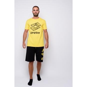 Abbigliamento Uomo T-shirt maniche corte Lotto T-shirt  Mezza Manica Jersey (ltu035-giallo) Giallo