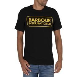 Abbigliamento Uomo T-shirt maniche corte Barbour T-Shirt Essential Large Logo nero