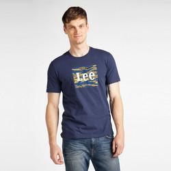Abbigliamento Uomo T-shirt maniche corte Lee T-shirt  Camo Package Dark Navy bleu marine/jaune/blanc